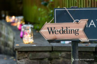 Wedding this way sign at a Mosborough Hall Hotel Sheffield Wedding