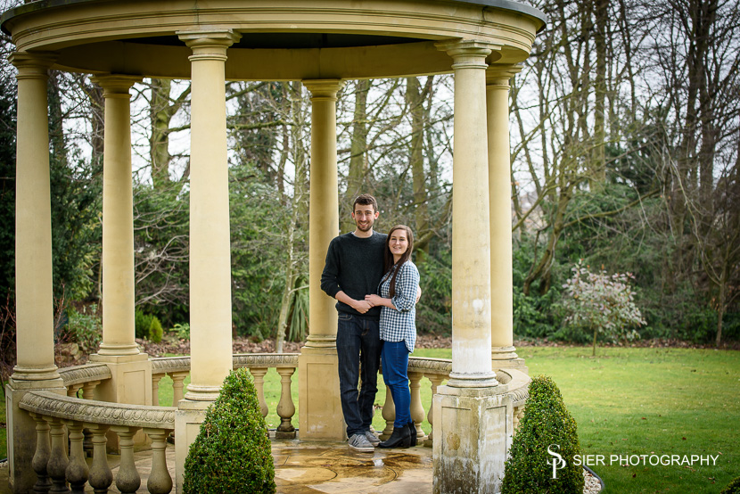 Engagement photography at Ringwood Hall Chesterfield