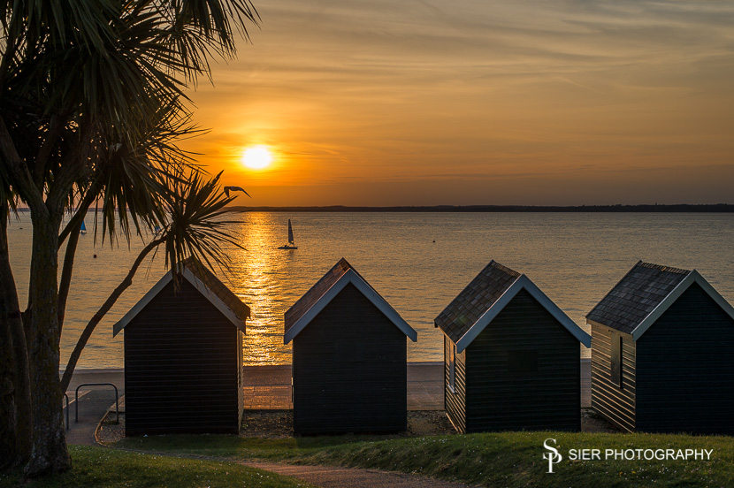 Stunning sunset at Gurnard on the Isle of Wight