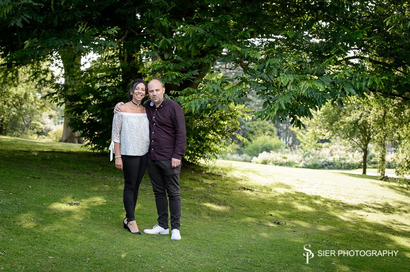 Engagement photography in the Sheffield Botanical Gardens