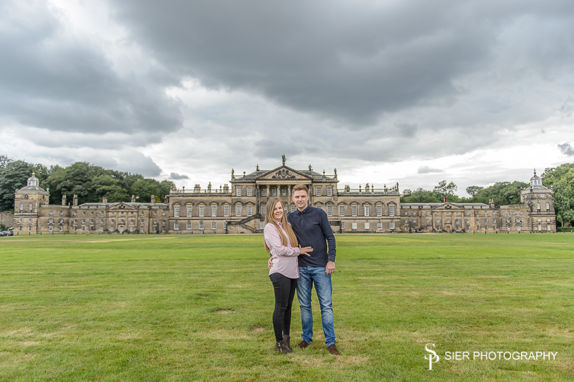 Engagement photography session at Wentworth Woodhouse in South Yorkshire