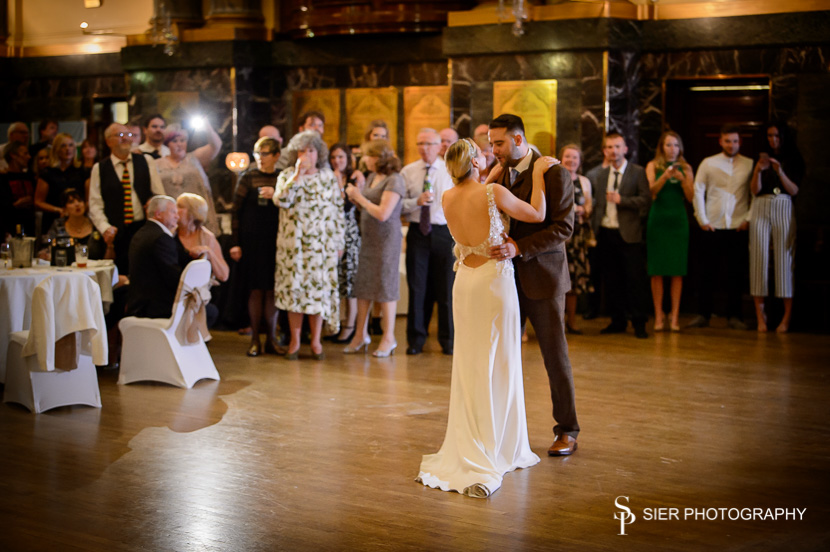 First dance inside the magnificent Cutlers Hall in Sheffield City Centre