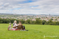 Pete McKee inspired engagement photo shoot in Meersbrook Park in Sheffield