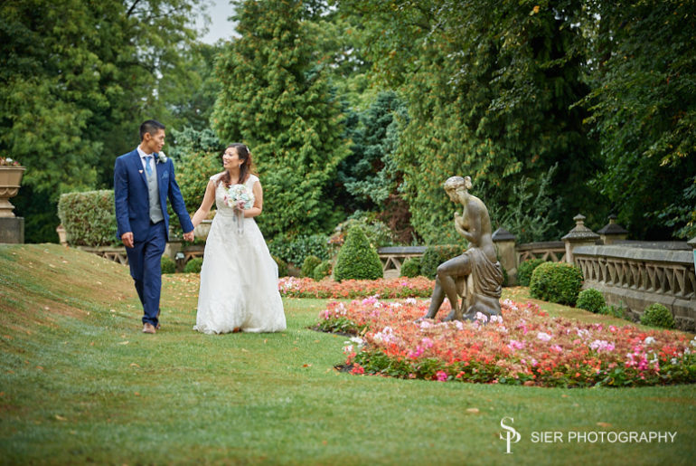 Wonderful summer wedding at the Kenwood Hall Hotel as our bride and groom take a late afternoon walk around the grounds of the hotel